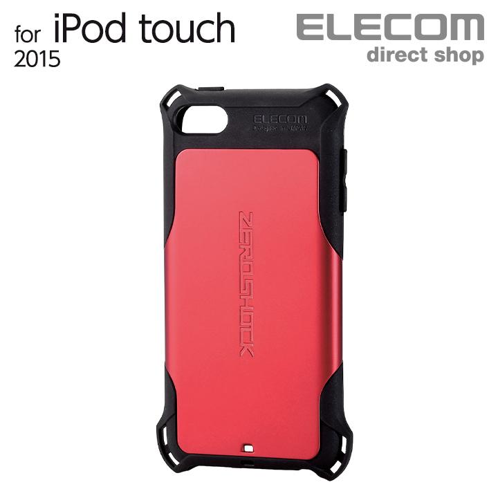 4つの衝撃吸収構造で衝撃から守る ZEROSHOCKケース ELECOM エレコム 割引 iPod touch レッド 衝撃吸収ケース ZEROSHOCK スーパーSALE セール期間限定 AVA-T17ZERORD ケース 第6世代対応