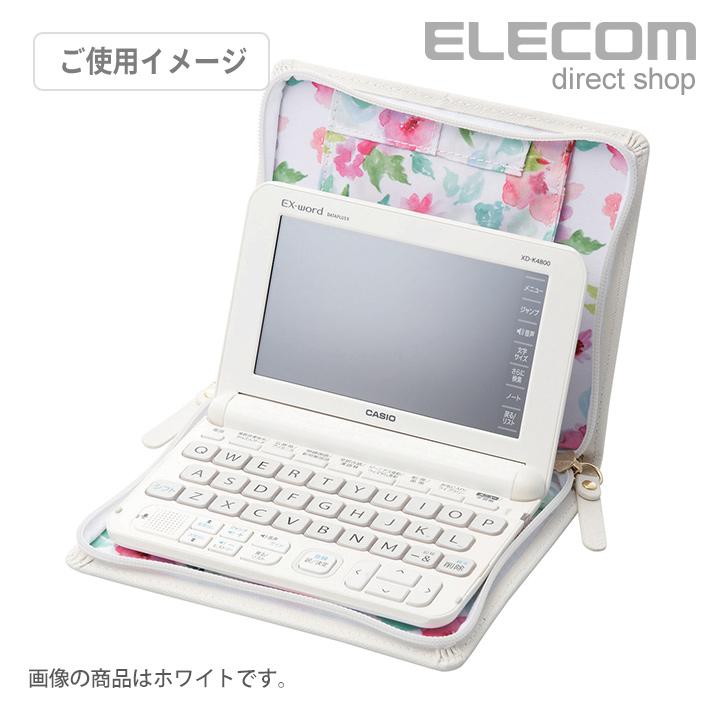 エレコム 電子辞書ケース DICT.fem リボンデザイン ブラック DJC-028BK