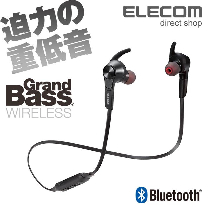 エレコム Bluetoothワイヤレスヘッドホン イヤホン 連続再生7時間 通話対応 ブラック LBT-HPC41MPBK