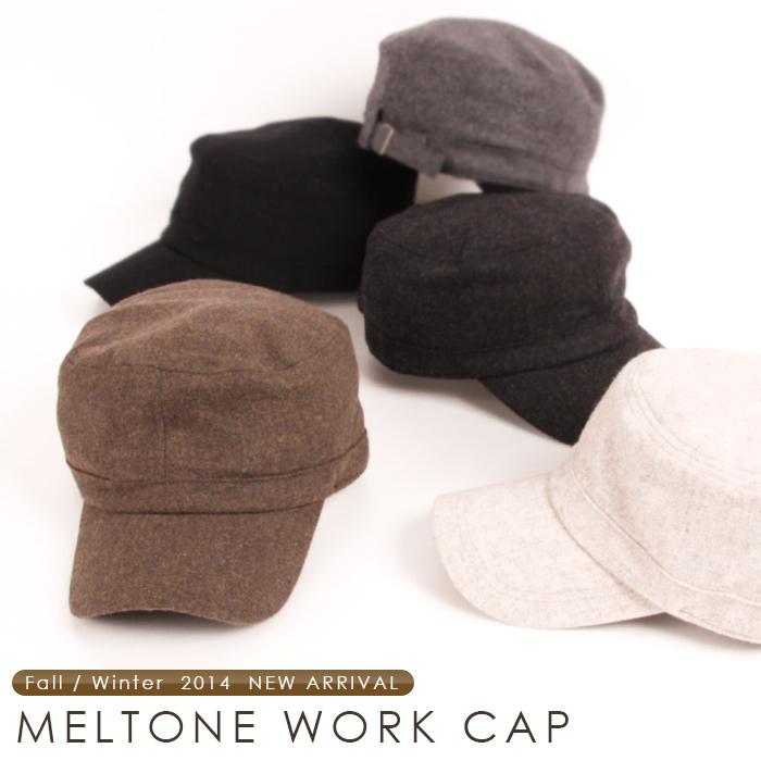 シンプル スタンダードなデザインのウールワークキャップ登場 帽子 ウール メンズ レディース 折り曲げ 男性用 大人 HOUSE キャップ 女性用 送料無料お手入れ要らず 2020モデル メルトンワークキャップ ROUND ラウンドハウス 送料無料