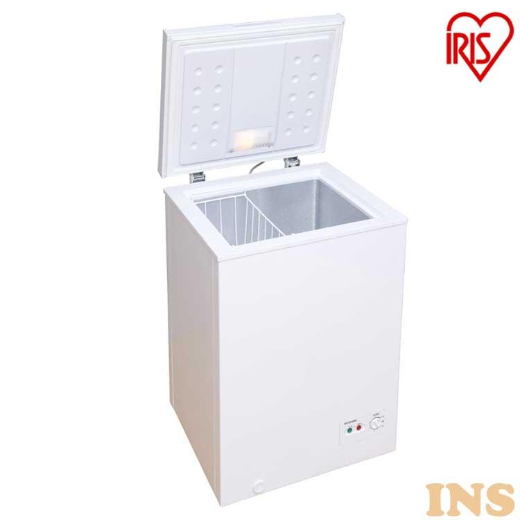 ノンフロン チェストフリーザー 100L ホワイト ICSD-10A-W 送料無料 冷凍庫 フリーザー 冷蔵庫フリーザー ストッカー 氷 食材 食品 食糧 冷凍 冷凍食品 保存 ストック キッチン家電 上開き アイリスオーヤマ