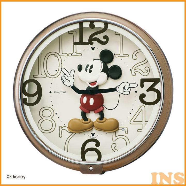 【時計 掛け時計】セイコークロック ディズニー ミッキー 掛時計【Disney おしゃれ かわいい 子供 ミッキー】保土ヶ谷 FW576B【TC】【送料無料】