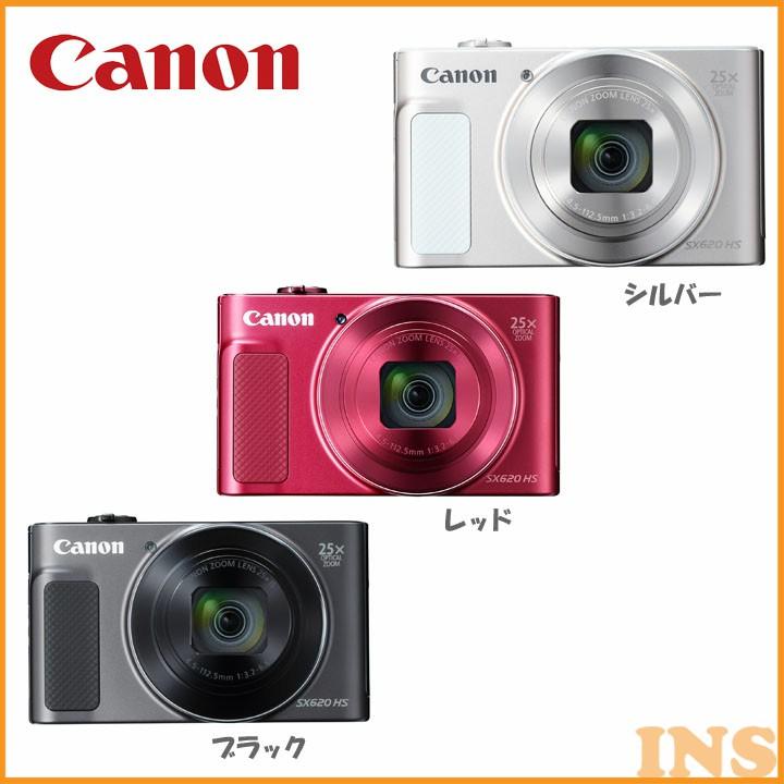 デジタルカメラ パワーショット SX620HS 送料無料 カメラ 写真 フォト CANON キヤノン ホワイト・レッド・ブラック【D】