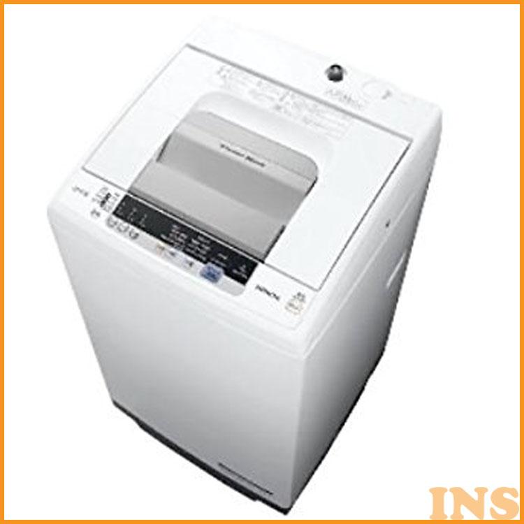 洗濯機 7kg 日立 全自動洗濯機 NW-R704-W 送料無料 浸透洗浄 風脱水 ほぐし脱水 簡易乾燥 上開き 時間短縮 部屋干し 白 HITACHI 【D】[sin]