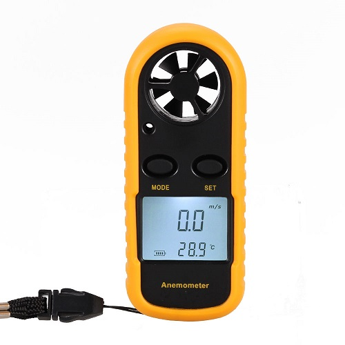 Wind velocity measurement mounted with new ● GM816 anemometer digital anemometer thermometer●
