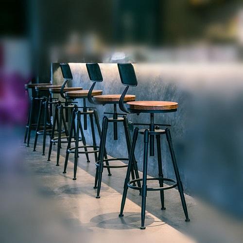 送料無料 新品●カウンター チェア●椅子 カフェ キッチン スチール メタル