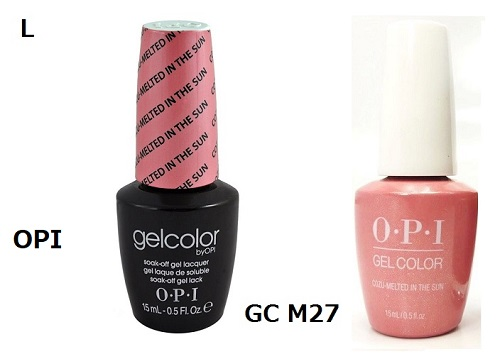 Brand New Opi Gelcolor Gel Coloring Cozu Melted In The Sun Gc M27 Opi Gel Color Led Nail Nail Manicurist Manicure Self Nail Sale Nair Goods