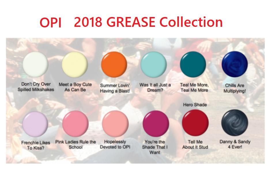 L | Rakuten Global Market: New ▽ OPI gelcolor gel color 2018 GREASE ...