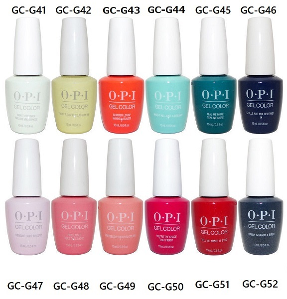 New ▼ OPI gelcolor gel color 2018 GREASE Collection grease collection GC  G41 GC G42 GC G43 GC G44 GC G45 GC G46 GC G47 GC G48 GC G49 GC G50 GC G51  GC