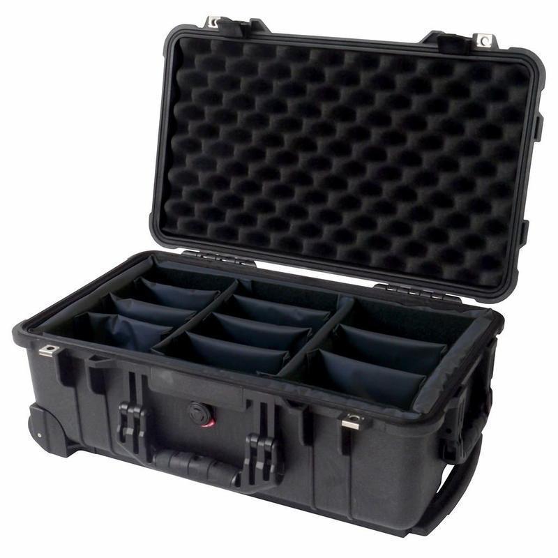 送料無料 新品 PELICAN ハードケース 1510 ディバイダータイプ 1510用 ブラック ペリカン 黒 防水中型ケース カメラケース