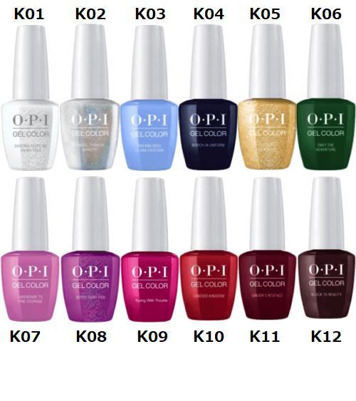 L: One OPI gelcolor gel color NUTCRACKER collection GC HP K01 K02 ...