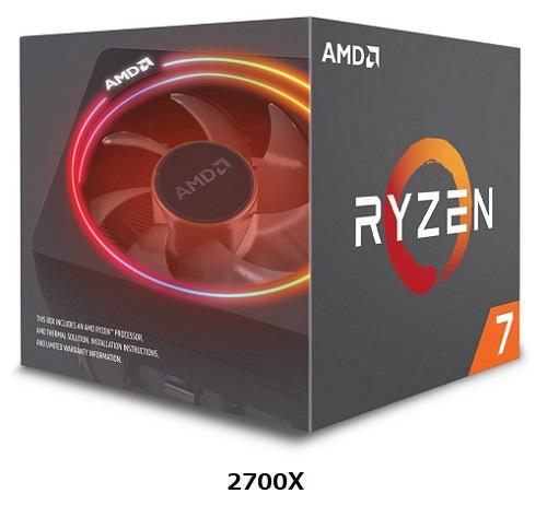 送料無料 新品 RYZEN 7 2700X AMD CPU Ryzen7 2700X BOX AM4 8コア DDR4 PCパーツ RYZEN7 CPUクーラー付属