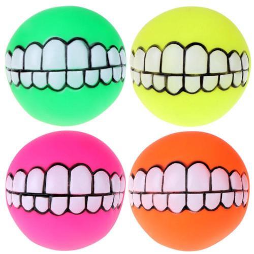 送料無料 税込 新品 犬用 価格 交渉 歯型 ボール 歯 シリコン ペット 毎日続々入荷 笑顔 犬
