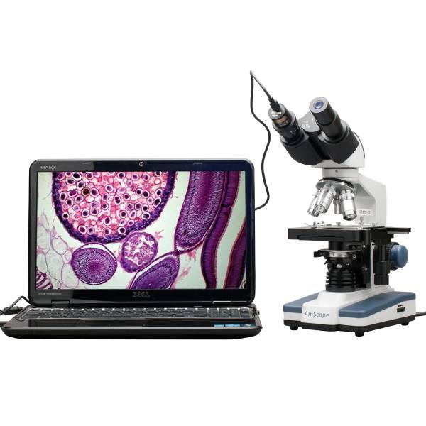 送料無料 新品  高性能 デジタル 双眼 複合顕微鏡 40X-2500X 最小40倍 最大2500倍 USBカメラ付き 顕微鏡 3Dステージ 2Dステージ ISO9001 品質管理基準 AmScope
