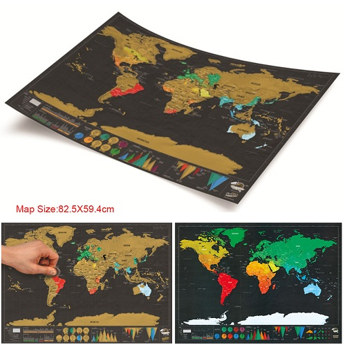 L rakuten global market brand new dedicated box with pain if brand new dedicated box with pain if there is aerobic remember the world map educational toy english educational toys world scratch map world map gumiabroncs Gallery