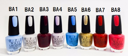 Brand New OPI Nail Lacquer Disney Alice Collection NL BA1 BA8 15ml
