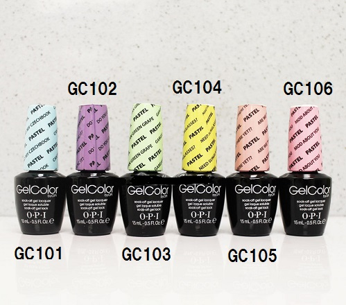 New Gelcolor OPI Gel Color PASTELS COLLECTION Pastel Collection GER Colour LED Nail GC 106 105 103 And 104 101 102 Best