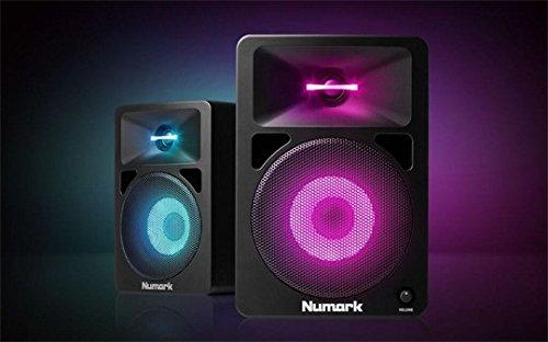 送料無料 新品●NUMARK N-Wave 580L モニタースピーカー イルミネーション LEDライト●ニュマーク NU-MON-002 T