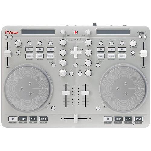 送料無料 新品●Vestax DJコントローラー Spin2 シルバー●iPhone/iPad/iPod touch対応 algoriddim djay/vjay対応 ベスタクス T