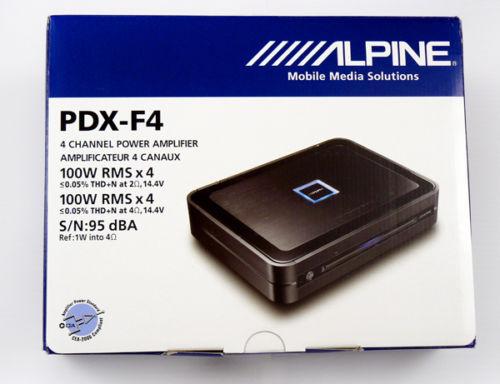 送料無料 新品●ALPINE アルパイン パワーアンプ PDX-F4 100W×4チャンネル●