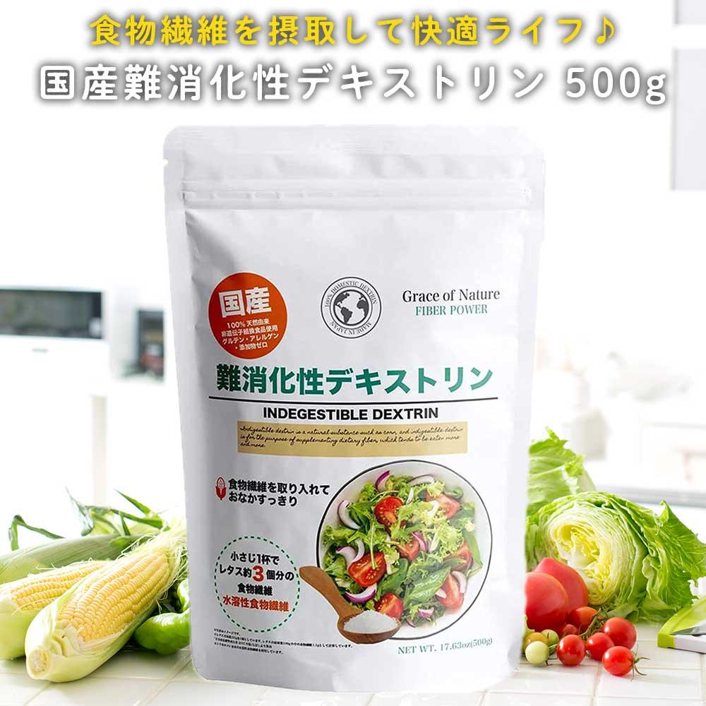 難消化性デキストリン ストアー 国産 水溶性食物繊維 パウダータイプ 正規激安 とうもろこし由来 遺伝子組み換え不使用 約50日分 野菜不足の方に 送料無料 グルテンフリー 無添加 500g