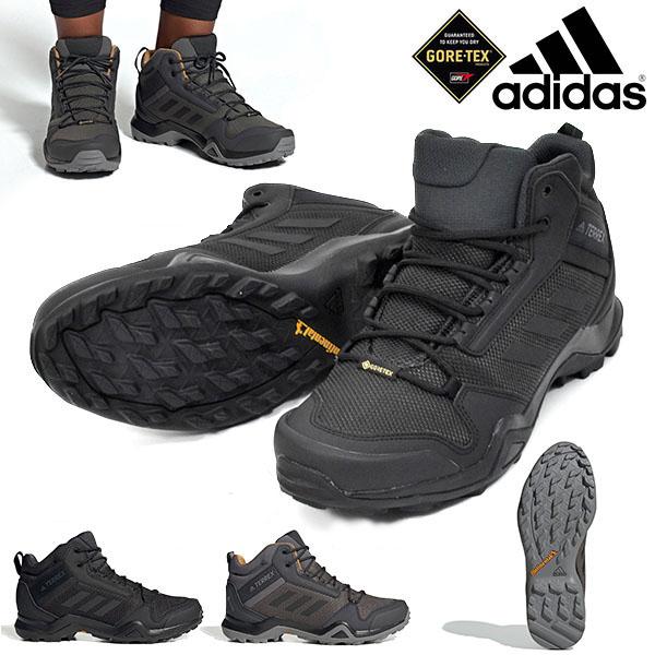 得割33 送料無料 アウトドアシューズ アディダス adidas メンズ TERREX AX3 MID GTX GORE-TEX ゴアテックス ミッドカット アウトドア トレッキング 登山 靴 BC0466 BC0468