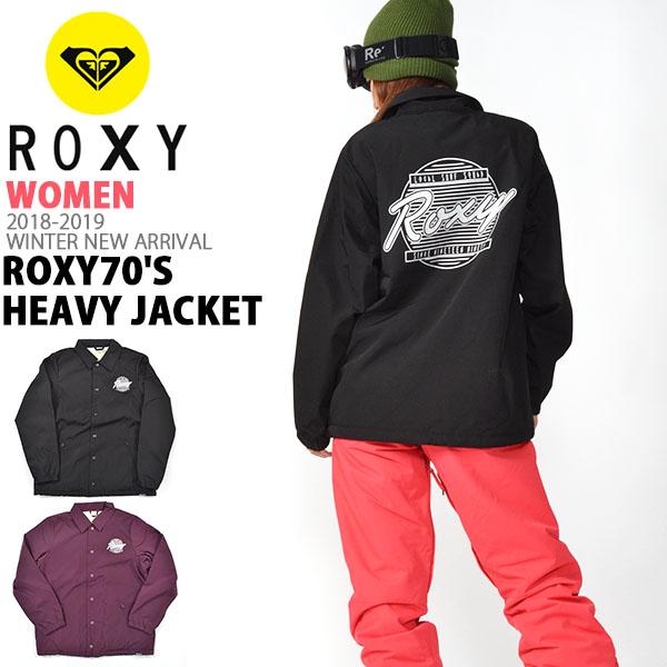 コーチジャケット ROXY ロキシー レディース ROXY70'S Heavy Jacket スノージャケット ナイロンジャケット 防風 撥水 スノー スノーボード スノボ 2018-2019冬新作 18-19 30%off