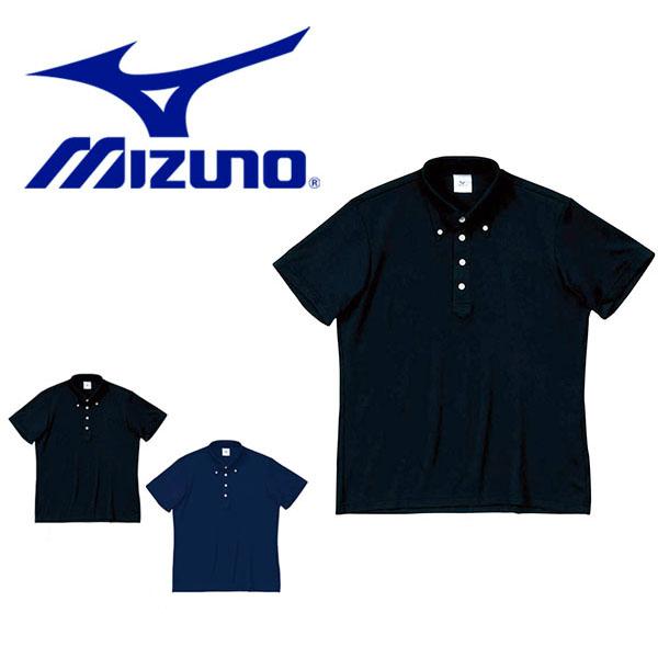ミズノ MIZUNO 商い メンズ 半袖 ポロシャツ 半袖ポロシャツ ボタンダウン 最新アイテム ウェア スポーツ 無地 ゴルフ クールビズ カジュアル ボタンダウンシャツ