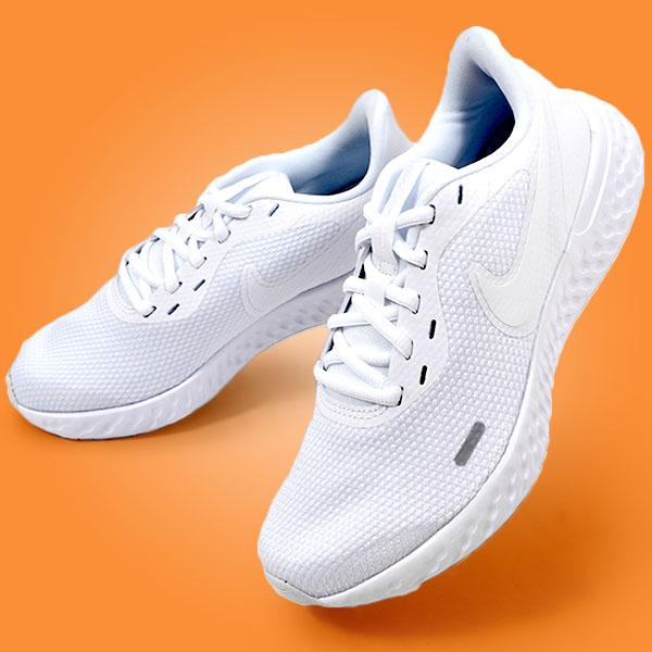 ランニングシューズ ナイキ NIKE レディース 運動靴 シューズ ランニング ジョギング 送料無料 30%OFF ホワイト レボリューション NEW 5 マラソン BQ3207 白 スニーカー ギフ_包装 トレーニング 初心者 REVOLUTION
