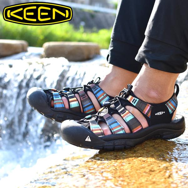 送料無料 水陸両用 サンダル KEEN キーン 靴 メンズ Newport H2 ニューポート シューズ アウトドア レジャー Raya Black ハイブリット サンダル 国内正規品 1001942