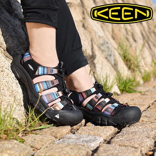 送料無料 水陸両用 サンダル KEEN キーン 靴 レディース Newport H2 ニューポート シューズ アウトドア レジャー Raya Black ハイブリット サンダル 1003480 国内正規品