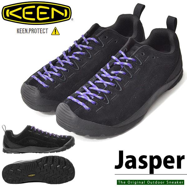 送料無料 靴紐3本つき アウトドア シューズ KEEN キーン メンズ JASPER ジャスパー BLACK クライミング ハイキング スニーカー 靴 シューズ ハイブリッド 1017349 アウトドアスニーカー