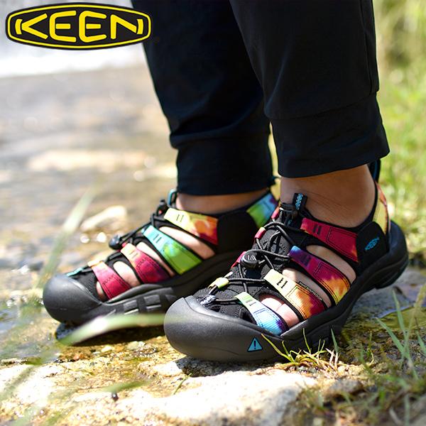 送料無料 水陸両用 サンダル KEEN キーン 靴 メンズ Newport Retro ニューポート レトロ シューズ タイダイ Original Tie Dye ハイブリット 1018804 国内正規品