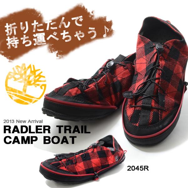 折叠shuzutimbarando Timberland radoratoreirukyampumenzu鞋鞋粗斜纹布格子花纹autodoapakkaburushuzu