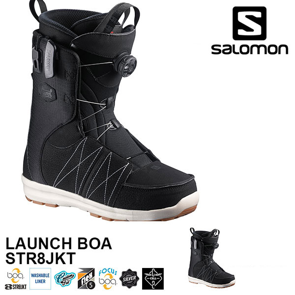 送料無料 SALOMON サロモン スノーボード ブーツ メンズ ボア システム LAUNCH BOA STR8JKT BOOTS スノボ スノーブーツ L36824000 得割30