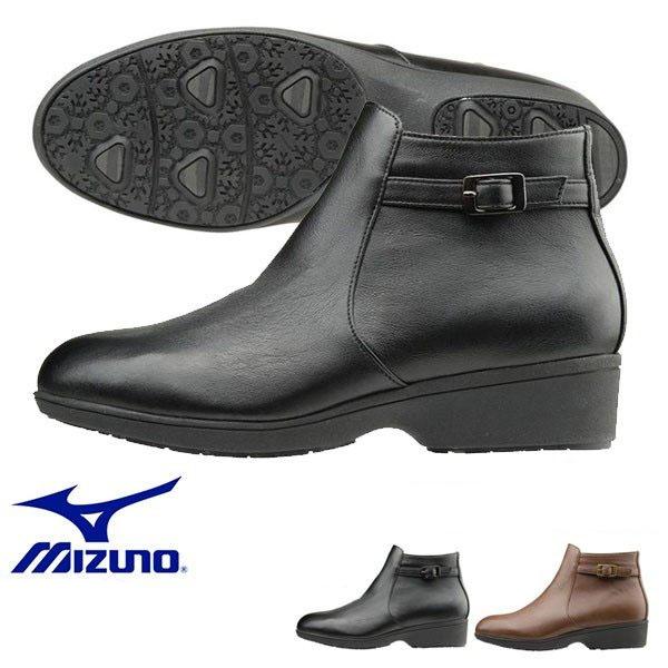 送料無料 雨や雪の日も快適に履ける防水仕様 ミズノ MIZUNO レディース セレクト655 ショートブーツ 幅広 3E ファスナー付 カジュアル 靴 シューズ
