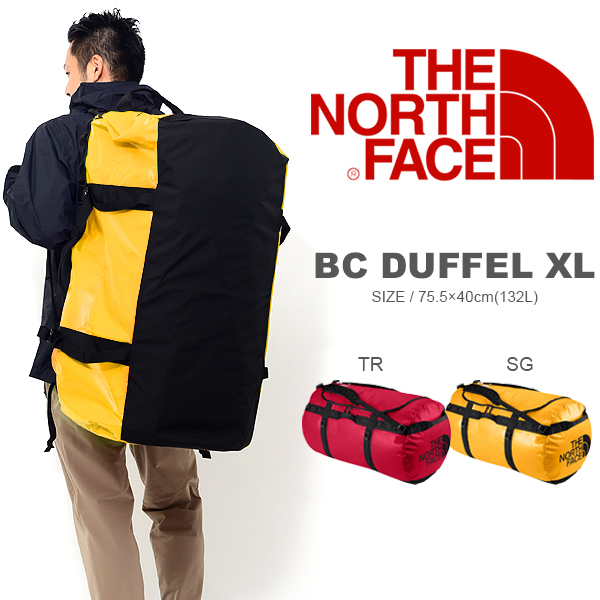 送料無料 大容量 132リットル ザ・ノースフェイス THE NORTH FACE BC DUFFEL XL ベースキャンプ ダッフル ボストンバッグ ショルダーバッグ 旅行 NM81551 ザ ノースフェイス 20%off