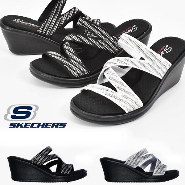 メーカー直送 スケッチャーズ SKECHERS レディース サンダル 7cm ヒール ウエッジサンダル ウェッジサンダル 送料無料 RUMBLERS ランブラーズ ビジュー 世界の人気ブランド ミュール 32925 シューズ ウェッジソール あす楽対応 靴 ウエッジソール スライド キラキラ