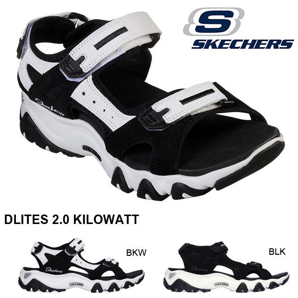 スポーツサンダル スケッチャーズ SKECHERS レディース DLITES ディーライト 2.0 キロワット サンダル ストラップ スポサン ダッド シューズ 靴 32999 2019春夏新作 得割20