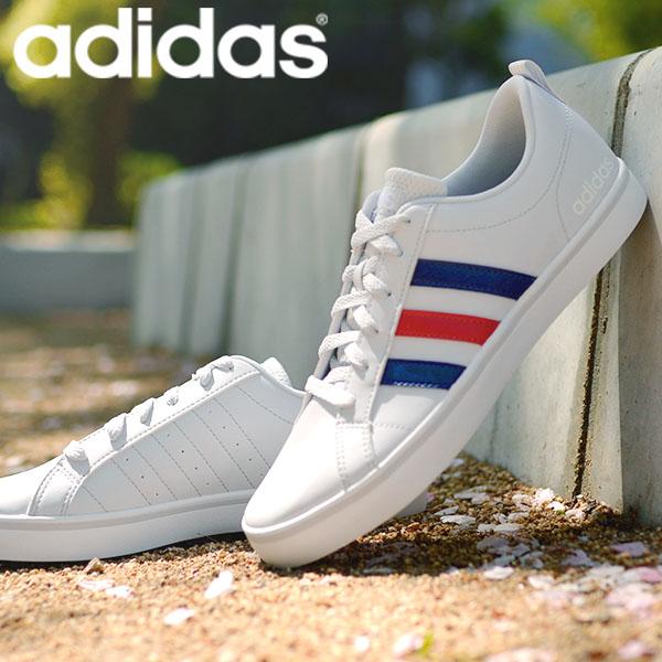 スニーカー アディダス adidas メンズ シューズ 正規認証品 新規格 ADIPACE VS ホワイト ネイビー グレー 白 紺 ブラック 3本ライン アディペース カジュアル B74494 靴 ローカット 蔵 27%off 送料無料 黒 EH0019