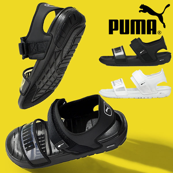 サンダル プーマ ご注文で当日配送 PUMA レディース ストラップサンダル 35%OFF 履き心地抜群 ふわふわインソール SOFTRIDE ウィメンズ 380678 アウトドア キャンプ 人気商品 ソフトライド シューズ 2021春新作 ベルクロ フェス 靴