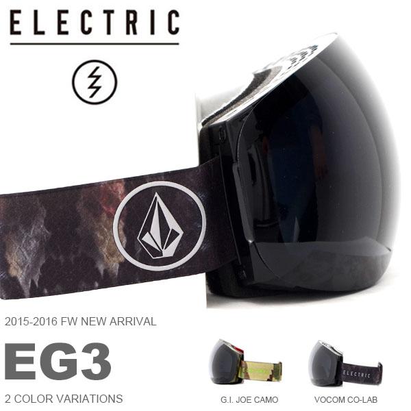 送料無料 スノーゴーグル ELECTRIC エレクトリック EG3 アジアンフィット フレームレス 日本正規品 メンズ レディース ユニセックス スノボ スノー ボード 球面レンズ 得割30