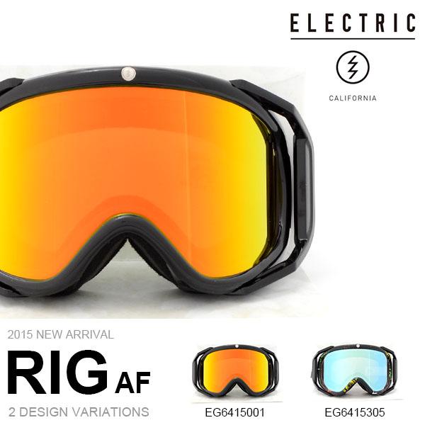 【すぐ使える100円割引クーポン配布中!】 送料無料 スノーゴーグル ELECTRIC エレクトリック RIG アジアンフィット アウトリガー 日本正規品 メンズ レディース ユニセックス スノボ スノー ボード 平面レンズ