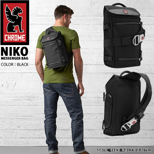 送料無料 メッセンジャーバッグ クローム CHROME NIKO ニコ シートベルト ショルダー バッグ カメラバッグ ボディバッグ 自転車 CAMERA BAG カメラケース 約11.5L BG134