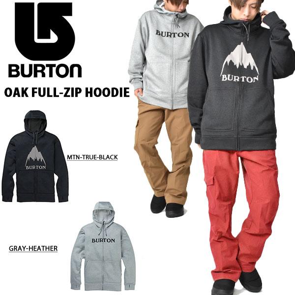 送料無料 長袖 パーカー バートン BURTON Oak Full-Zip Hoodie メンズ フルジップアップ パーカ フーディー ジャケット スノボ スノーボード SNOWBOARD WEAR スキー 2019-2020冬新作 19-20 19/20 10%off