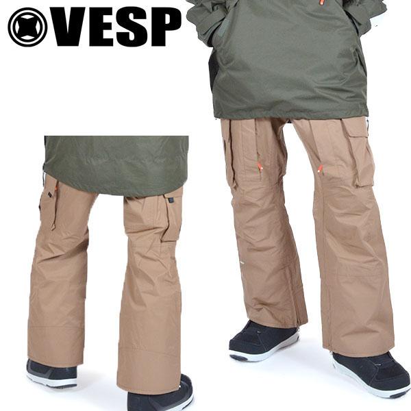 送料無料 スノーボードウェア VESP ベスプ DIGGERS LIGHT STANDARD CARGO PANTS vpmp19-07 パンツ スノボ スノーボード ボトムス メンズ レディース ユニセックス 20%off