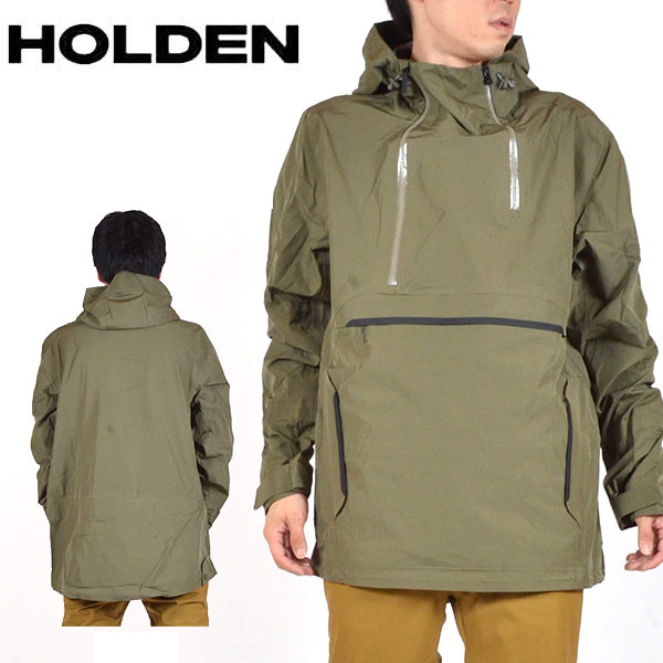 送料無料 スノーボードウェア HOLDEN ホールデン MS 3-LAYER ANORAK JACKET スリーレイヤー アノラック ジャケット メンズ グリーン 緑 ジャケット スノボ スノーボード スノーウェア 得割20