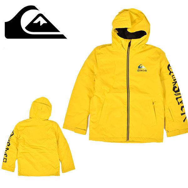 送料無料 スノーボードウェア QUIKSILVER クイックシルバー IN THE HOOD YOUTH JK イエロー 黄 キッズ ジュニア 男の子 ジャケット スノーボード スノボ ウェア スノーパンツ 25%off