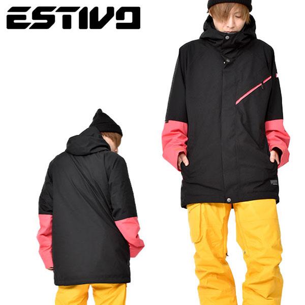 送料無料 スノーボードウェア エスティボ ESTIVO MIGHTY JKT マイティ ジャケット ブラック 黒 メンズ GORE-TEX ゴアテックス スノボ スノーボード スノーボードウエア SNOWBOARD WEAR スキー SKI 30%off