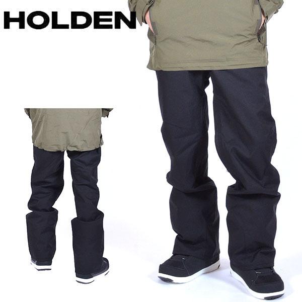 送料無料 スノーボードウェア HOLDEN ホールデン MS STANDARD PANTS メンズ パンツ ブラック 黒 スノボ スノーボード ボトムス メンズ 得割20
